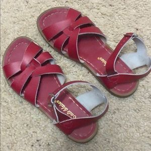 The Salt Water Sandal Red by Hoy